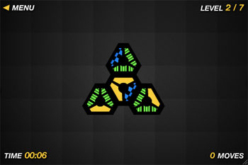Screenshot of Chroma Circuit mobile with Pattern Mode enabled