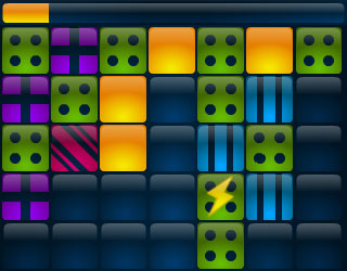 Screenshot of Gridshock with patterns mode enabled